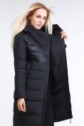 Оптом Куртка зимняя женская молодежная стеганная черного цвета 870_01Ch в Казани
