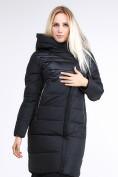 Оптом Куртка зимняя женская молодежная стеганная черного цвета 870_01Ch в Казани, фото 3