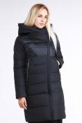 Оптом Куртка зимняя женская молодежная стеганная черного цвета 870_01Ch в Казани, фото 4