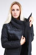Оптом Куртка зимняя женская молодежная стеганная черного цвета 870_01Ch в Казани, фото 7