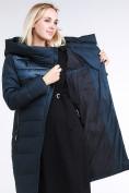 Оптом Куртка зимняя женская молодежная стеганная темно-зеленого цвета 870_03TZ в Казани, фото 2