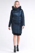 Оптом Куртка зимняя женская молодежная стеганная темно-зеленого цвета 870_03TZ в Казани
