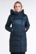 Оптом Куртка зимняя женская молодежная стеганная темно-зеленого цвета 870_03TZ в Казани, фото 3