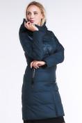 Оптом Куртка зимняя женская молодежная стеганная темно-зеленого цвета 870_03TZ в  Красноярске, фото 4