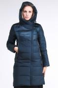 Оптом Куртка зимняя женская молодежная стеганная темно-зеленого цвета 870_03TZ в Казани, фото 6