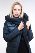 Оптом Куртка зимняя женская молодежная стеганная темно-зеленого цвета 870_03TZ в Казани, фото 7