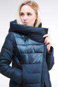 Оптом Куртка зимняя женская молодежная стеганная темно-зеленого цвета 870_03TZ в Казани, фото 8