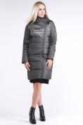 Оптом Куртка зимняя женская молодежная стеганная светло-серого цвета 870_05SS в Екатеринбурге