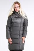 Оптом Куртка зимняя женская молодежная стеганная светло-серого цвета 870_05SS в Екатеринбурге, фото 2