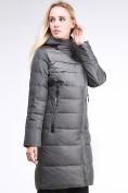 Оптом Куртка зимняя женская молодежная стеганная светло-серого цвета 870_05SS в Екатеринбурге, фото 3