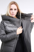 Оптом Куртка зимняя женская молодежная стеганная светло-серого цвета 870_05SS в Екатеринбурге, фото 6