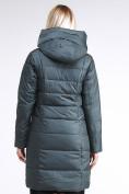 Оптом Куртка зимняя женская молодежная стеганная болотного цвета 870_06Bt в  Красноярске, фото 4
