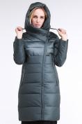 Оптом Куртка зимняя женская молодежная стеганная болотного цвета 870_06Bt в  Красноярске, фото 5