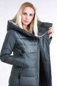 Оптом Куртка зимняя женская молодежная стеганная болотного цвета 870_06Bt в  Красноярске, фото 6