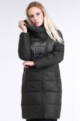 Оптом Куртка зимняя женская молодежная стеганная темно-серого цвета 870_13TC в Казани, фото 3