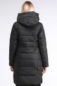 Оптом Куртка зимняя женская молодежная стеганная темно-серого цвета 870_13TC в Казани, фото 5
