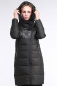 Оптом Куртка зимняя женская молодежная стеганная темно-серого цвета 870_13TC в Казани, фото 6