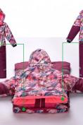 Оптом Комбинезон подростковый для девочки розовый 8808R в Казани, фото 3