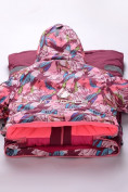 Оптом Комбинезон подростковый для девочки розовый 8808R в Казани, фото 4