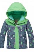 Оптом Горнолыжный костюм детский зеленый 8812Z в Екатеринбурге, фото 2