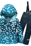Оптом Горнолыжный костюм подростковый для девочки бирюзовый 8814Br в Казани