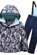 Оптом Горнолыжный костюм подростковый для девочки темно-синий 8818TS в  Красноярске