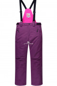 Оптом Горнолыжный костюм подростковый для девочки фиолетовый 8830F в Казани, фото 4