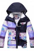Оптом Горнолыжный костюм подростковый для девочки фиолетовый 8830F в Казани, фото 2