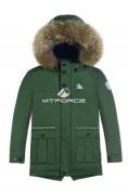 Оптом Куртка парка зимняя подростковая для мальчика цвета хаки 8831Kh в Казани