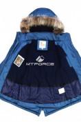 Оптом Куртка парка зимняя подростковая для мальчика синего цвета 8833S в Екатеринбурге, фото 4