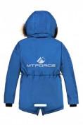 Оптом Куртка парка зимняя подростковая для мальчика синего цвета 8833S в Екатеринбурге, фото 2