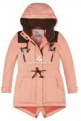 Оптом Куртка парка зимняя подростковая для девочки персикового цвета 8834P в Казани