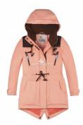 Оптом Куртка парка зимняя подростковая для девочки персикового цвета 8834P в Казани, фото 4