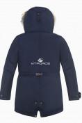 Оптом Куртка парка зимняя подростковая для мальчика темно-синего цвета 8836TS в Екатеринбурге, фото 2