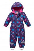 Оптом Комбинезон для девочки зимний фиолетового цвета 8906F в  Красноярске
