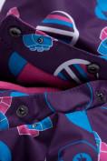 Оптом Комбинезон для девочки зимний фиолетового цвета 8906F в  Красноярске, фото 6