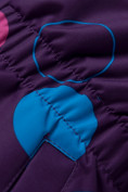 Оптом Комбинезон для девочки зимний фиолетового цвета 8906F в  Красноярске, фото 8