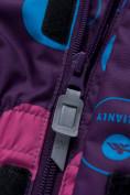 Оптом Комбинезон для девочки зимний фиолетового цвета 8906F в  Красноярске, фото 9