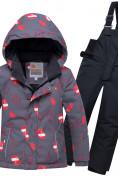 Оптом Горнолыжный костюм детский темно-серого цвета 8913TC