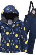 Оптом Горнолыжный костюм подростковый для мальчика темно-синего цвета 8915TS в Нижнем Новгороде