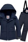 Оптом Горнолыжный костюм для мальчика темно-синего цвета 8921TS в  Красноярске