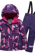Оптом Горнолыжный костюм для ребенка фиолетового цвета 8928F