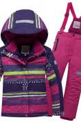 Оптом Горнолыжный костюм подростковый для девочки темно-фиолетового 8930TF в Перми