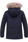 Оптом Куртка парка зимняя подростковая для мальчика темно-синего цвета 8931TS, фото 2
