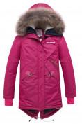 Оптом Куртка парка зимняя подростковая для девочки малинового цвета 8934M в  Красноярске