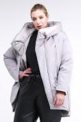 Оптом Куртка зимняя женская молодежная батал серого цвета 90-911_46Sr в Казани, фото 3