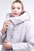 Оптом Куртка зимняя женская молодежная батал серого цвета 90-911_46Sr в Казани, фото 7