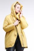 Оптом Куртка зимняя женская молодежная батал желтого цвета 90-911_56J в Казани, фото 6