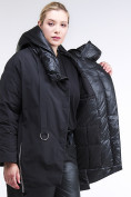 Оптом Куртка зимняя женская молодежная батал черного цвета 90-911_701Ch в Нижнем Новгороде, фото 6