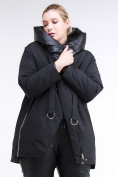 Оптом Куртка зимняя женская молодежная батал черного цвета 90-911_701Ch в Нижнем Новгороде, фото 2